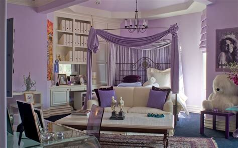 purple inspired bedrooms turning a room into a princess lair ideas for 13000
