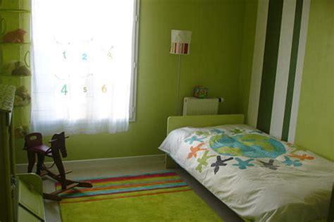 chambre verte chambre enfant vert et gris