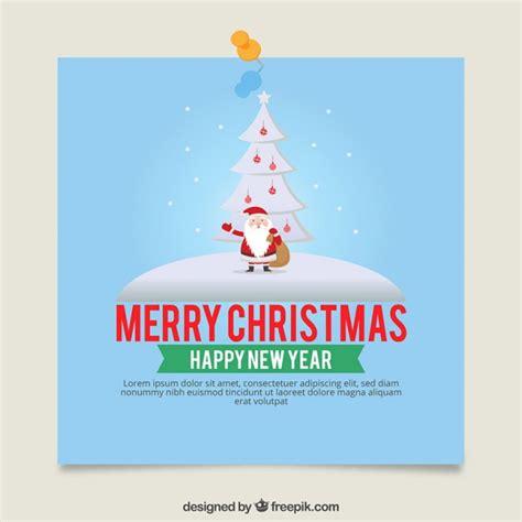 Santa Claus Card By Benchart Vectors Eps Card Template With Santa Claus Vector Free