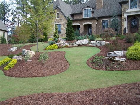 stone landscape design mulch  river rock landscaping