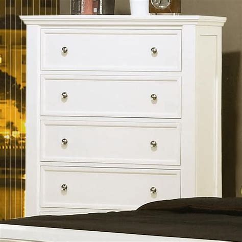 bedroom furniture white wooden chest of drawers jitco