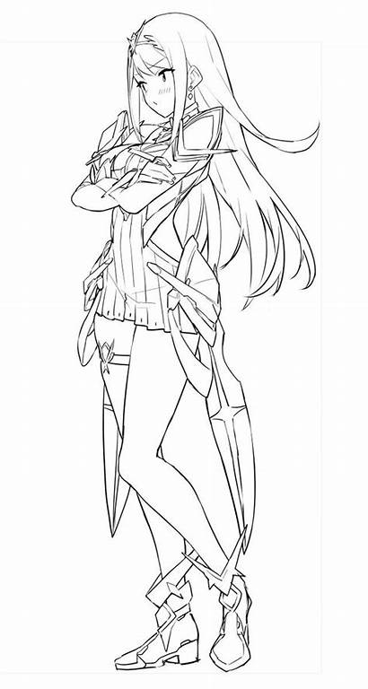 Sketches Anime Character Drawing Xenoblade Chronicles Sketch
