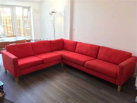 Large Ikea L Shaped Corner Sofa In Basingstoke
