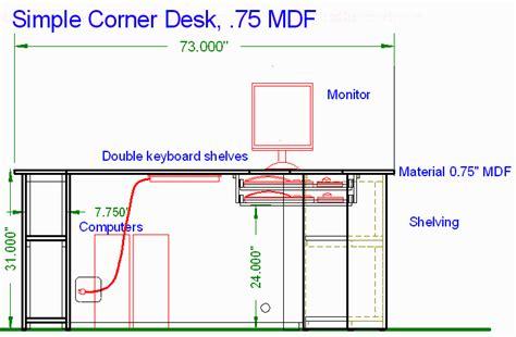 plans corner computer desk  woodworking