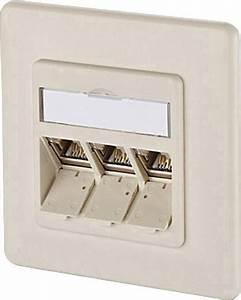 Netzwerkdose Cat 6a : netzwerkdose unterputz einsatz mit zentralplatte und rahmen cat 6a 3 port metz connect ~ Eleganceandgraceweddings.com Haus und Dekorationen