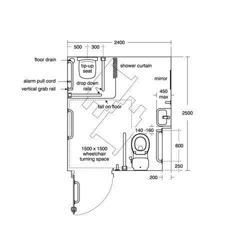 Assisted Bathroom Dimensions by Bathroom Handicap Bathroom Dimensions With Easy Guide To