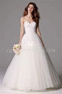 strapless sweetheart classic feminine full a line tulle With what wedding dress is right for me