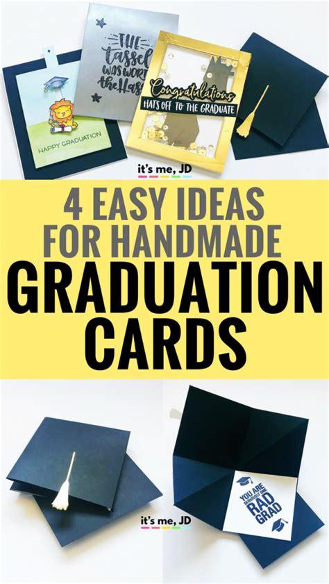easy diy graduation card ideas   jd