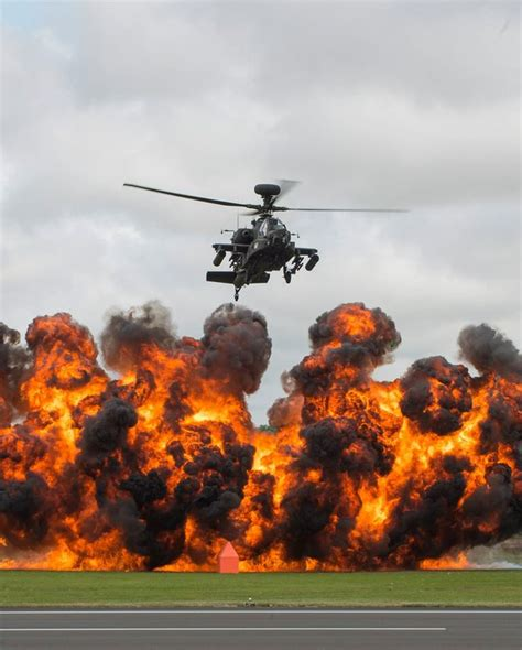 Apache Helicopter From The British Army Air Corps At The