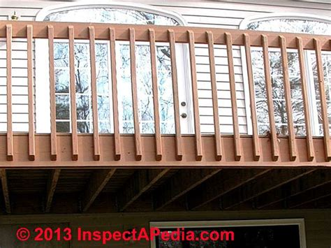 deck railing spacing between posts deck guardrail or stair railing baluster installation