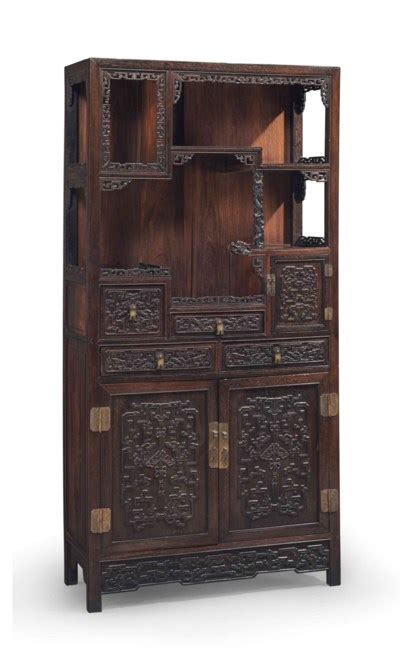kitchen glass cabinets a large carved jichimu display cabinet duobaoge 19th 1766