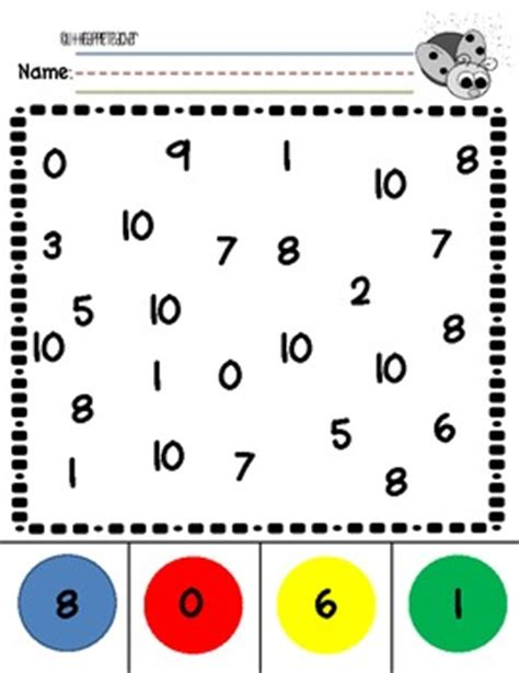 number recognition 0 10 practice worksheets by the little apple teacher