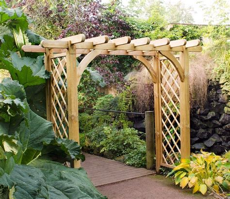 Garden Of Products large ultima pergola arch from forest garden products