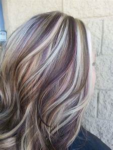 Blonde Highlights With Purple Lowlights My Style Hair