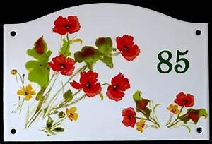Plaque De Maison Personnalisée : plaque de maison maill e personnalis e fleurs ~ Dallasstarsshop.com Idées de Décoration