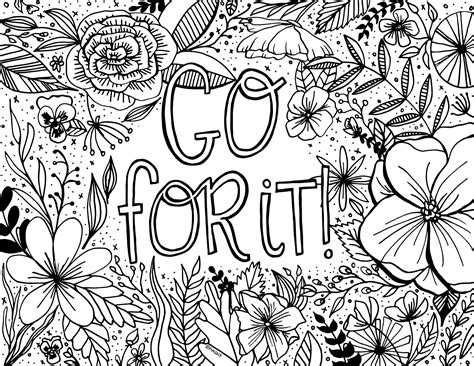 encouragement coloring page printable dawn nicole