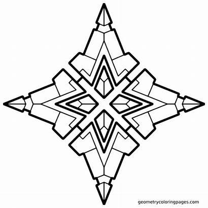 Geometric Coloring Pages Geometry Simple Mandala Cool