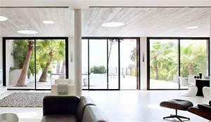 baie vitree inspiration pour un interieur lumineux With porte d entrée alu avec plafond tendu salle de bain