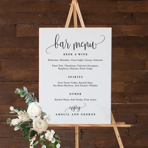 bar menu sign lovely calligraphy lcc berry berry sweet
