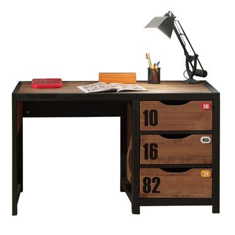 bureaux ado meuble bureau style industriel marron et noir chambre d
