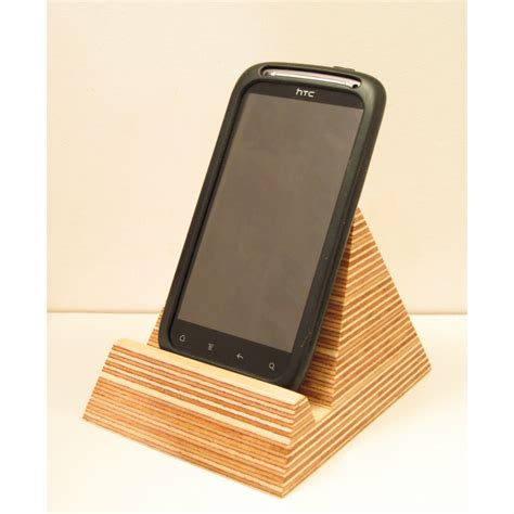 smartphone stand for desk pyramid phone holder homeware furniture and gifts mocha