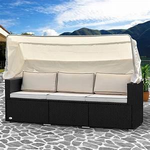 Rattan Lounge Mit Dach : poly rattan lounge sofa bank couch dach gartenliege gartenlounge liege garten 4250525333473 ebay ~ Bigdaddyawards.com Haus und Dekorationen