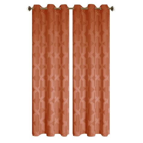grommet panel curtains rust color