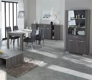 table de salle a manger contemporaine rectangulaire chene With salle À manger contemporaineavec meubles salle a manger soldes