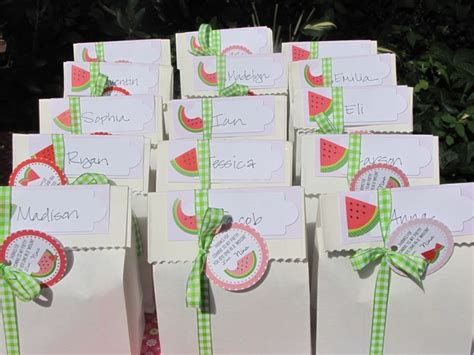 Goodie Bags For Daughter's Watermelon Themed First