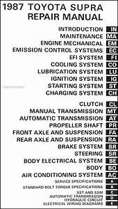1987 Toyota Supra Repair Shop Manual Original