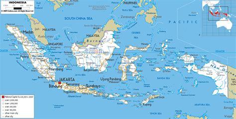 detailed clear large road map  indonesia ezilon maps