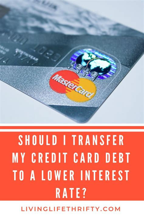 Maybe you would like to learn more about one of these? Should I transfer my credit card debt to a lower interest rate? | Credit cards debt, Low ...