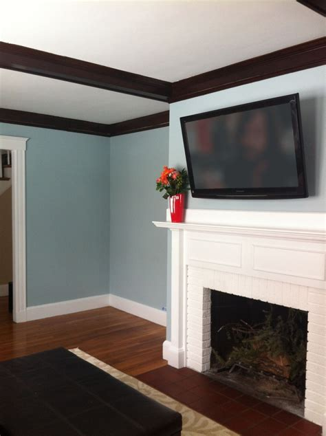 living room in benjamin yarmouth blue paint living