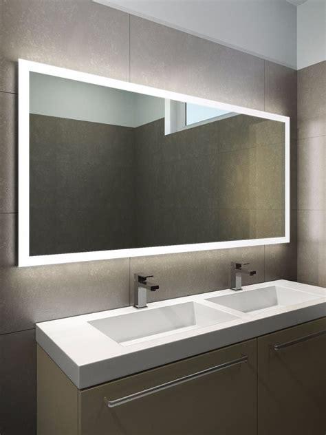 halo wide led light bathroom mirror  illuminated