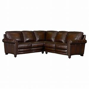 Hamilton leather sectional sofa by bassett furniture for Sectional sofas at bassett