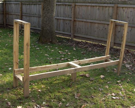 wooden log rack  woodworking