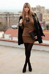 68 best Black and Brown outfits images on Pinterest | Fall winter fashion Black gowns and Fall ...
