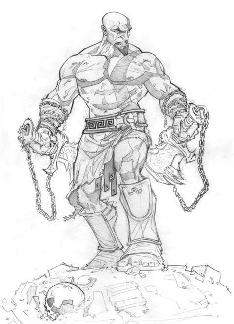 God Of War Ascension Sketch By Patrickbrown On