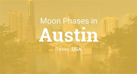 moon phases lunar calendar austin texas usa