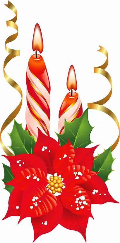 Poinsettia Candles Clipart Transparent Yopriceville