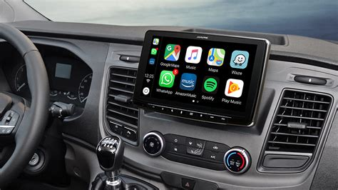 autoradio fuer ford transit custom mit  zoll touchscreen