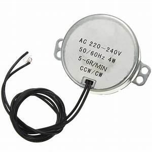 220 240v 4w Black Dual Wires 5 6rpm  Min 50  60hz