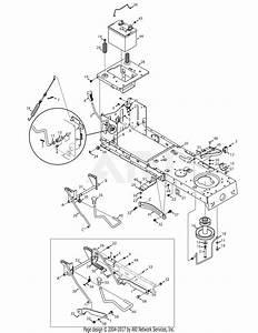 Troy Bilt 13an77kg011 Pony  2008  Parts Diagram For Frame  U0026 Pto Assembly