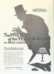 myst e de la chambre jaune il mistero della gialla 1919