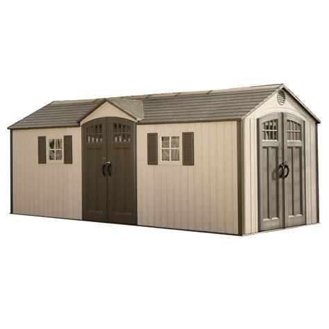 lifetime 20 ft w x 8 ft d garden shed reviews wayfair