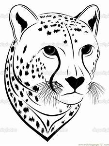 free coloring pages of fox face mask With cheetah face mask template