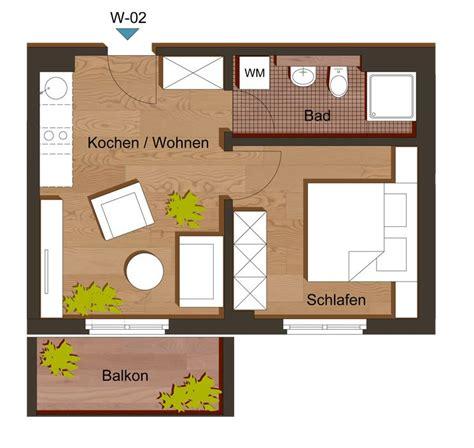 Zwei Zimmer Wohnung Einrichten by Grundriss Zweizimmerwohnung 35 M 178 Haus