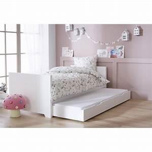 Lit Maison Enfant : lit enfant blanc 90x200 option gigogne alfred et compagnie ~ Farleysfitness.com Idées de Décoration