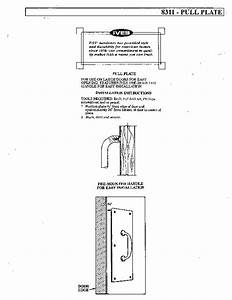 Pull Plate 8311 Manuals