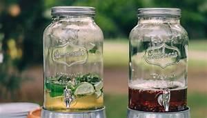 Getränkespender Glas Mit Zapfhahn : getr nkespender in marmeladenglas optik verr ckt nach hochzeit ~ Markanthonyermac.com Haus und Dekorationen